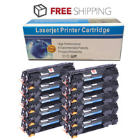10 Pack High Yield 125 Black Toner for Canon ImageClass LBP6000 LBP6030w MF3010