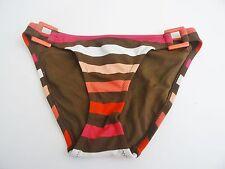Nwt Aeropostale Swimwsuit Swim Bikini Bottom Sz XL X-Large Brown Pink Stripes