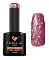 048 VB™ Line Dark Rose Pink Silver Glitter - UV/LED soak off gel nail polish