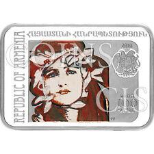 Armenia 2010 100 dram Painter Axentowicz Teodor Proof Silver Coin