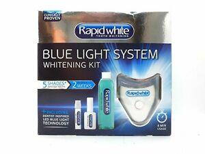 rapid white dentist inspired led blue light teeth whitening kit brand new in box