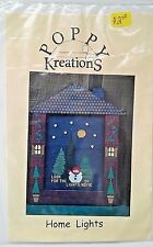 Poppy Kreations Home Lights Snowman Counted Cross Stitch Chart Pattern Buttons