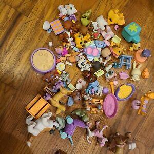 Lot of 20 Little Pet Shop Dogs Cats Snail Monkey
