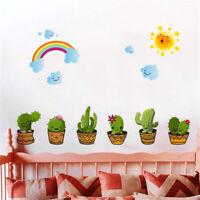 Vivid Kaktus Engel Pflanzen Blume Wandaufkleber Zimmer Fenster Wandtattoo CBL