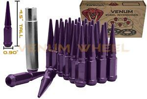 """20 1/2""""x20 Purple Spike Lug Nuts - Fits Older Chevy's GMC Blazer Jimmy C10 K15"""