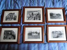 Set of 6 Old Photographs of Broughty Ferry, Dundee, Glazed with Rosewood Frames