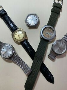 Lot of Seiko, Citizen, Orient, Waltham vintage watches - all working NO RES