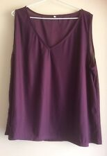 No Brand Size 18/20 Purple Sleeveless V Neck Sheer Top