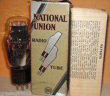 Engraved National Union #47 Vacuum Tube Very Strong  Results =  78