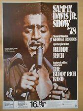 SAMMY DAVIS JR. 1978 - original Konzert-Tour-Poster-Plakat Din A1 - TOPZUSTAND