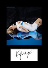 KYLIE MINOGUE #2 Signed Photo Print A5 Mounted Photo Print - FREE DELIVERY
