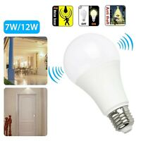 E27 Radar Sensor Ambient PIR Motion 7/12W LED Globe Bulb Light Lamp Practical &E