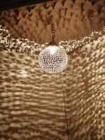 Moroccan spherical pendent brass hanging lamp Ceiling light round chandelier