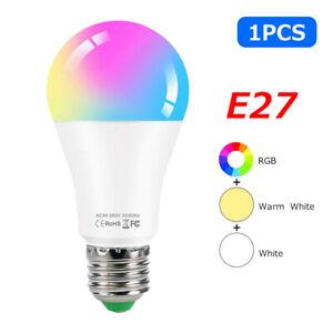 Tuya Wifi Smart Light Bulb E27 RGB LED Lamp Dimmable 12W 15W 18W For Smart Life