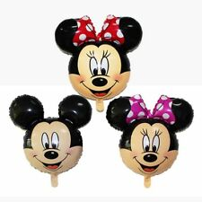 """27"""" Mickey & Minnie Mouse Face Shape & 1st Year Birthday Party Balloon. UK STOCK"""