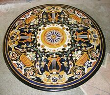 3' Mughal Arts Marble Inlay Marvelous Coffee Center Table Top Outdoor Furniture