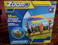 Zoomo 12 Foot Outdoor Backyard Parachute with Handles and Bag