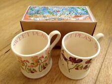 Emma Bridgewater 0.5 1/2 pint mugs SWEET PEA set of 2 BOXED   **P&P offer**