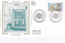 Francia 1990 Europa Cerizay Post Office Seda unadressed FDC