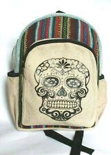 Himalayan Hemp Medium Skull Rucksack Backpack Bag Fairtrade Handmade Nepal boho
