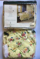 Laura Ashley Carlisle  Twin Bed Skirt Dust Ruffle Yellow Floral Bedskirt