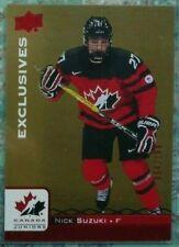 Nick Suzuki 2017 Upper Deck UD EXCLUSIVES Canada Juniors /199 Montreal Canadiens