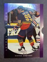 1995-96 Upper Deck Be A Player Lethal Lines DieCut #LL2 Wayne Gretzky STL Blues