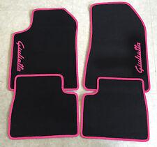 Autoteppich Fußmatten für Alfa Romeo Giulietta Schrift pink Seite 4teilg Neuware