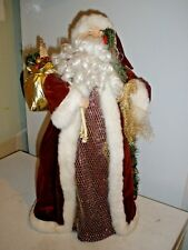 "Large Old World St. Nick Santa Claus Christmas Tree Topper 21"" tall"