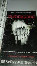 Opera Programme. 1987. Ruddigore. New Sadler's Wells Opera. Sadler's Wells Theat
