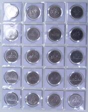 CANADA NICKEL DOLLAR  1968 TO 1986 AU-55 / B.U+ (21PCS)