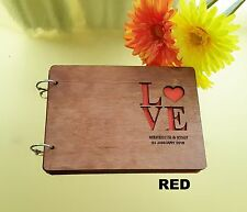 Personalized Wooden Wedding Guest Book, Engagement, A5 size, stained, varnished