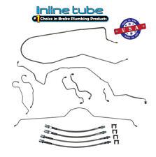 70-73 Chevrolet Corvette POWER Disc Brake Line Kit & SS Flex Hose Set STAINLESS