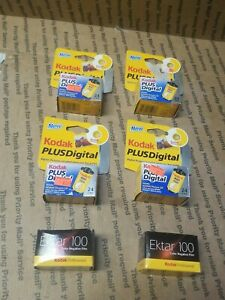 6 rolls sealed Kodak Plus digital 35MM Color Film 400 total expired & ektar 100