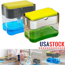 2 in 1 Soap Pump Dispenser & Sponge Holder for Dish Soap and Sponge for Kitchen