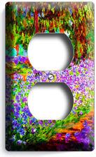 Irises Garden Claude Monet Painting Outlet Wall Plate Room Studio Art Home Decor