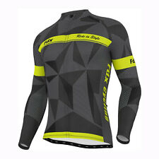 FDX Mens Classic Cycling Jersey Long sleeve Thermal Cold Wear Racing Jacket