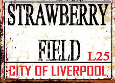 STRAWBERRY FIELD LIVERPOOL STREET SIGN METAL SIGN RETRO STYLE12x16in 30x40cm
