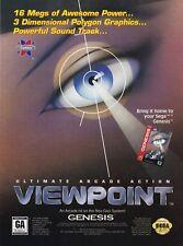 Original 1993 Sega Genesis VIEWPOINT video game print ad page advertisement