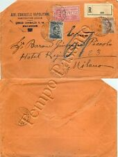 162 - Regno - Espresso su raccomandata da Palermo a Milano, 21/08/1914
