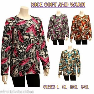 Womens Ladies Floral Flannel Long Sleeve Blouse Nice Soft & Warm Top Shirt