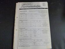 Original Service Manual  Grundig SO1a SO2a SO10a SO2a1