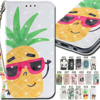 For Samsung Strap 3D Card Slot Wallet PU Leather Stand Flip Cover Case Back Skin