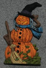 Halloween Ceramic Pumpkin Witch Figurine