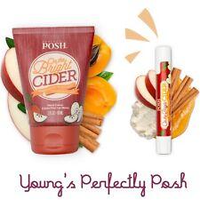 Perfectly Posh Oh The Bright Cider Hand Cream & Lip Balm Set New/Sealed