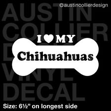 """6.5"""" CHIHUAHUAS vinyl decal car window laptop sticker - dog breed rescue"""