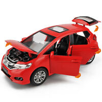 Honda GK5 Fit 1/32 Metal Diecast Model Car Toy Collection Sound&Light Gift
