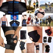 Neoprene Back, Shoulder &Knee Support Belt Lumbar Brace Waist Posture PainRelief