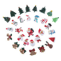 10x Dollhouse Christmas Decor Snowman Tree Diy Mini Decoration Hairpin Craft xh