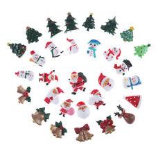 10x Dollhouse Christmas Decor Snowman Tree Diy Mini Decoration Hairpin Craftnw